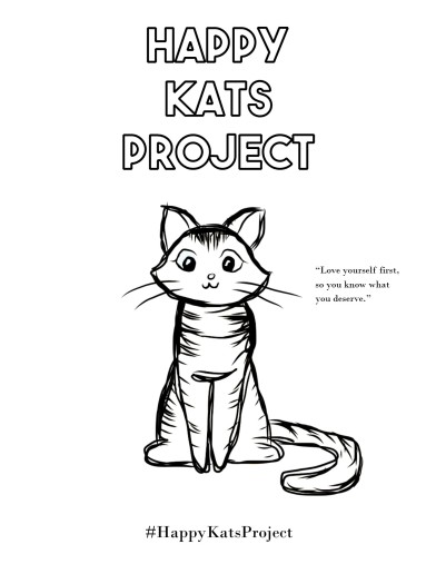 Flyer for a Non Profit organization named Happy Kats